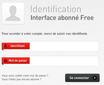 Interface abbonné Free