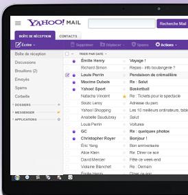Mes e-mails avec Yahoo