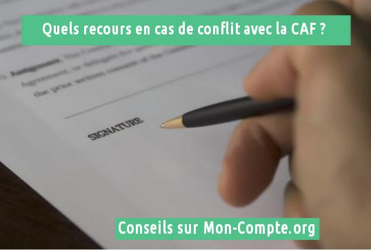 Résoudre un conflit avec la CAF