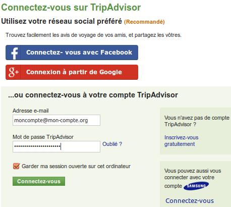 Connectez-vous sur TripAdvisor
