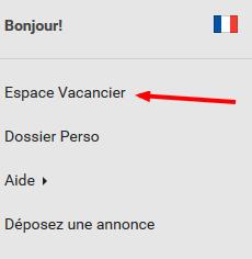 Espace vacanciers