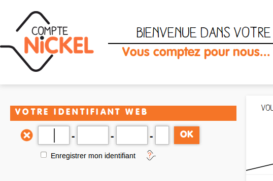 Identifiants Web Nickel