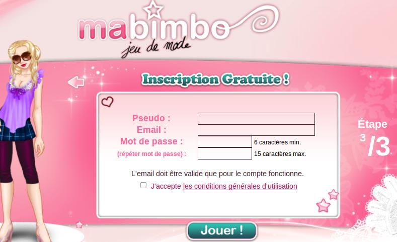 Jouer sur ma-bimbo.com
