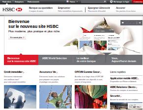 Aperçu du nouveau site HSBC