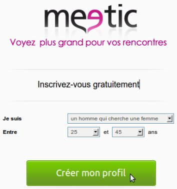Meetic connection automatique