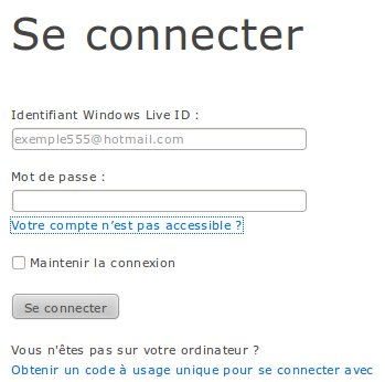 Se connecter à MSN