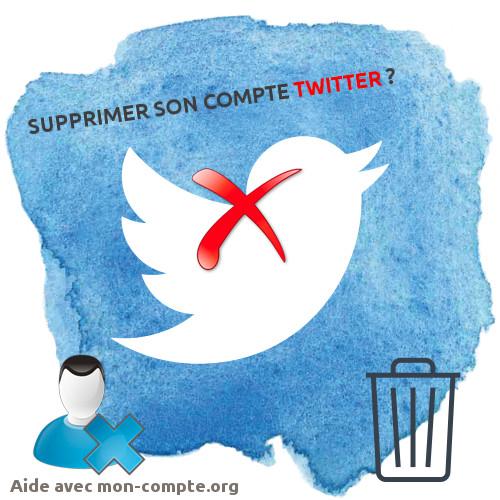 Supprimer son compte twitter