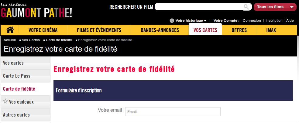 carte fidélité gaumont pathé
